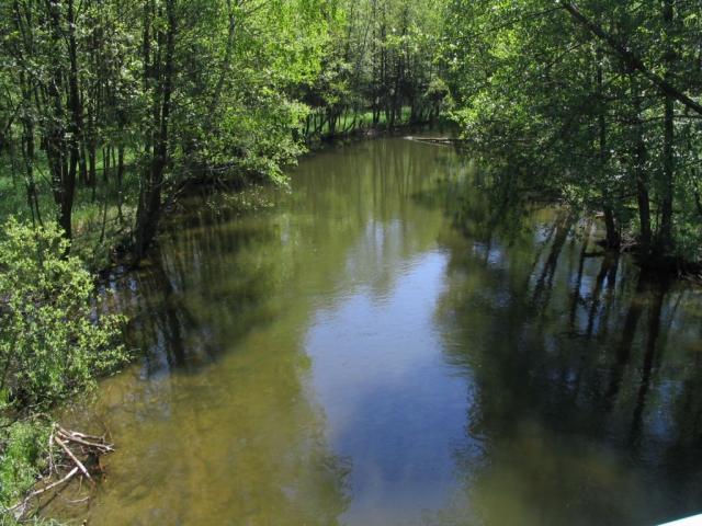 Śluza - rzeka Zbrzyca