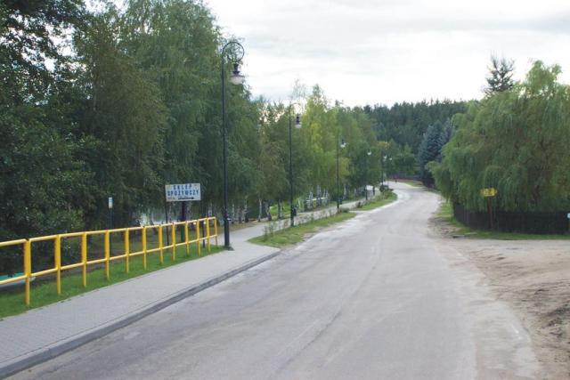 Swornegacie - droga w kierunku Chojnic